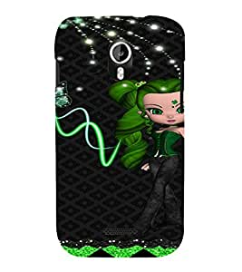 PrintVisa Cute Animated Girl Butterfly 3D Hard Polycarbonate Designer Back Case Cover for Micromax Magnus A117