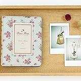 Elsatsang 64 Taschen Fotoalbum Mini Album Retro Rose Blumen blumig romantisch Fotoalbum Polaroid Mini Größe Name (weiß)