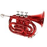 Cherrystone Trompette De Poche Sib Rouge Avec Etui Rigide