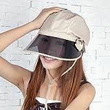 XPY&DGX Cappellini,cappello, In primavera ed estate a cavallo della tendina parasole elettrica femmina car sun UV hat esterno di grande cappello per il sole la faccia coperta, di beige chiaro