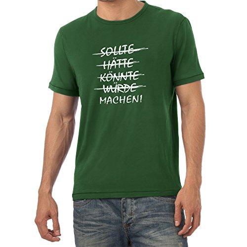 TEXLAB - Machen! - Herren T-Shirt Flaschengrün