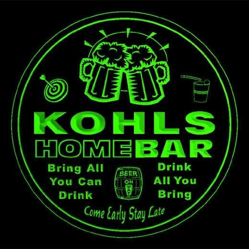4x-ccq23995-g-kohls-family-name-home-bar-pub-beer-club-gift-3d-coasters