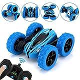 QUN FENG Ferngesteuertes Auto, 360°Spins RC Stunt Auto Rennauto 2.4Ghz Radio Ferngesteuerter Buggy Auto ,4WD Spielzeug Rennfahrzeug für Kinder Jungen Mädchen (Blau)