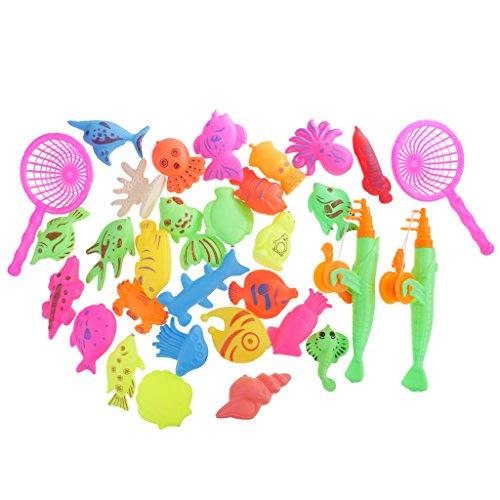 F FITYLE Kinder Magnetisches Angelspiel Fischen Badespiel Badespaß Wasserspielzeug - 32 Stück (Hai-angeln-haken)