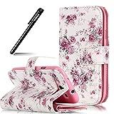BtDuck Schutzhülle Galaxy S3,Brieftasche für Samsung Galaxy S3, Ledertasche PU Leder Hülle Wallet Flip Cover für Samsung Galaxy S3 Stand Etui Case Rechnung Tasche Handyhülle - Rose