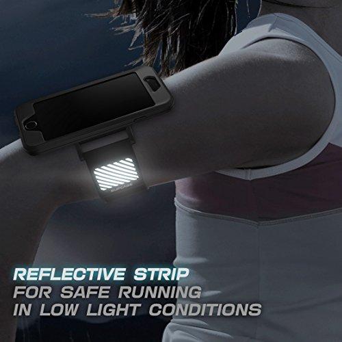 iPhone 7 Armband, iPhone 8 Armband, Supcase Sport Hülle Verstellbar Sportarmband Schutzhülle für Joggen Sport für Apple iPhone 7 / iPhone 8, Schwarz schwarz