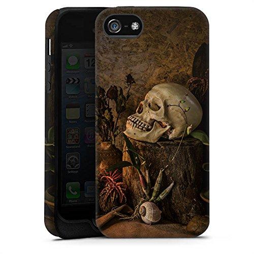 Apple iPhone X Silikon Hülle Case Schutzhülle Tod Schädel Totenkopf Tough Case matt