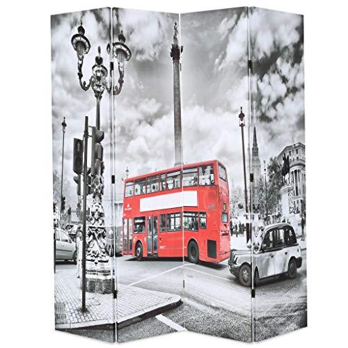 Vislone Plegable Biombos Diseño de Bus Londres Biombo Divisor Separad