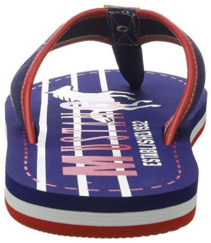 Mustang Herren 4113-701-800 Zehentrenner Blau (800 dunkelblau)