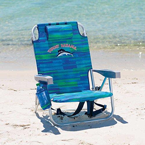 Flache Sitz-stuhl (Sitz für den Strand-/ Garten Tommy Bahama faltet, mit Kühlschrank und Abteil BLAU)