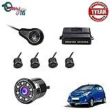 #7: myTVS TPK-57 Black Reverse Car Video Parking Sensor Kit with 8 LED Night Vision Camera for Hyndai Eon