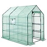 SONGMICS Serre de Jardin Tente abri avec Cadre métallique Bâche Anti-UV résistante 2 étages 3m2 GWP13GN