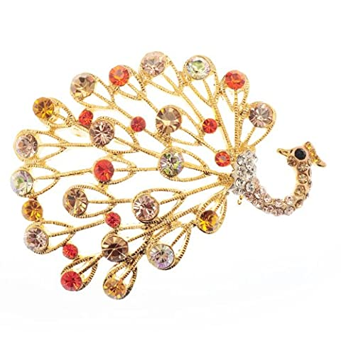Janeo Brooches & Pins Topaze Orange Kristall