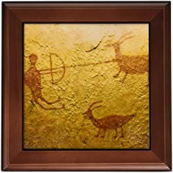3dRose ft_92519_1 Pictograph, Canyon Dechelly Np, Native American-Us32 Awy0005-Angel Wynn-Framed Tile, 8 by 8-Inch