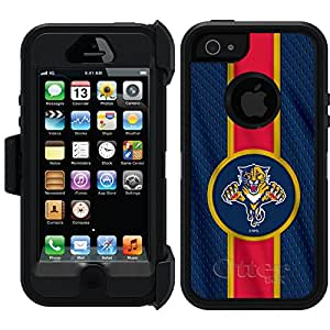 Coveroo Defender Series Cell Phone Case for iPhone 5/5S - Retail Packaging - Florida Panthers Jersey Stripe