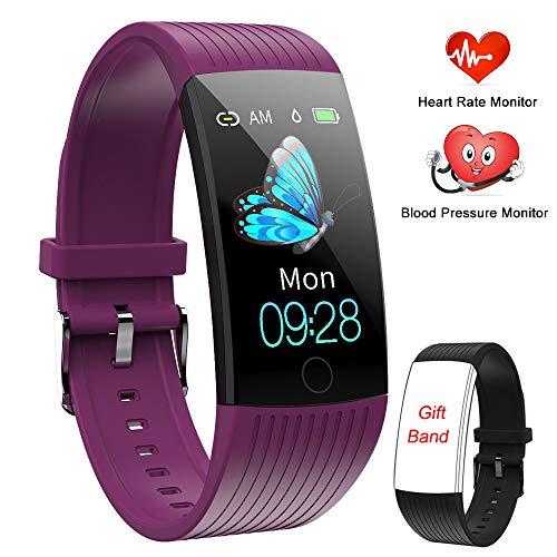 Fitness Armband, Fitness Tracker mit Pulsmesser und IP67 Wasserdicht Fitness Sport Uhr, Smartwatch mit Blutdruck und Schlafmonitor Schrittzähler Aktivitätstracker Smart Watch