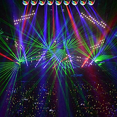 Mini stage lights, EJBOTH Magic ball lamp RGB LED stage effect Rotating Party Light crystal ball Sound Activated + Remote Control Atmosphere Bulb for Disco KTV Xmas Bar Club Christmas DJ Pub [UK Plug]