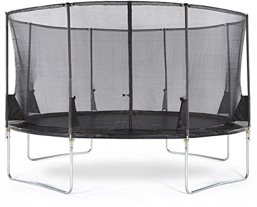 Plum Kids' Space Zone II 14ft Trampoline, Black, 14 Ft Best Price and Cheapest