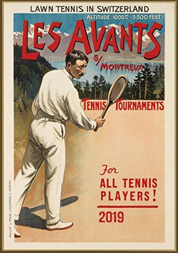 "Wall Calendar 2018 [12 pages 8""x11""] Tennis Vintage Sport Ads Poster Advert"