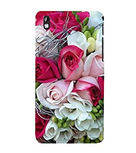 99Sublimation Bunch of Roses 3D Hard Polycarbonate Back Case Cover for HTC Desire 816