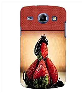 PrintDhaba Strawberries D-2827 Back Case Cover for SAMSUNG GALAXY MEGA 5.8 (Multi-Coloured)