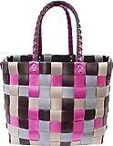 normani Einkaufstasche geflochten mit Henkeln - Tragetasche extra robust Farbe Classic/Velvet