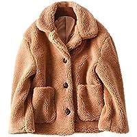Geili Damen Wintermantel Warm Dicke Kunstpelz Wolljacke Kurz Fleecemantel mit Reverskragen Frauen Mode Taschen... preisvergleich bei billige-tabletten.eu