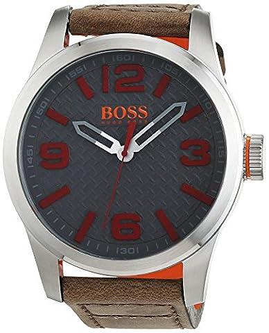 Hugo Boss Orange 1513351 Herren Armbanduhr, Quarz, analoges klassisches Zifferblatt, Lederarmband