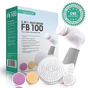 VOYOR 5 En 1 Cepillo Limpiador Facial Electrico Limpieza Facial Minimizador de Poros Removedor de Piel Muerta Cepillo…