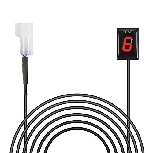 Preisvergleich Produktbild IDEA f¨¹r Kawasaki Wasserdichte Motorrad Ganganzeige 6 Speed LED Digital Anzeige Rot LED Display Plug & Play