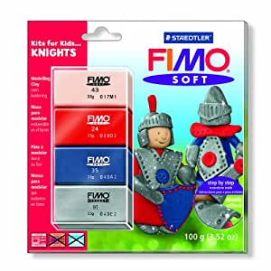 Staedtler Fimo Soft Kits for Kids - Knights (4 x 25g Blocks)