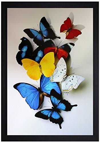 SAF Textured Print with UV Framed Reprint Painting (SANFO468, 30 cm x 3 cm x 45 cm)