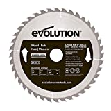 Evolution Power Tools - construire Rageblade255wood Evolution 255 mm Bois Tête en carbure Lame, 0 V, Multi, 255 mm