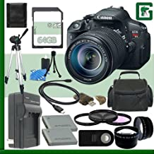 Canon EOS Rebel T5i Digital SLR Camera Kit With 18-55mm STM Lens + 64GB Green's Camera Package 1