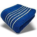 DAKANI Premium Frottee Handtücher 50x100 cm 100% Baumwolle in prämierten Farben und hochwertigem Design Extra flauschig in TOP Qualität (50 x 100 cm, Blau)