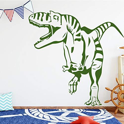 wukongsun Kinderzimmer kreative Dinosaurier wandaufkleber Schlafzimmer Dekoration Vinyl Wand wasserdicht Drachen wandaufkleber Dinosaurier grün L 43 cm X 43 cm -