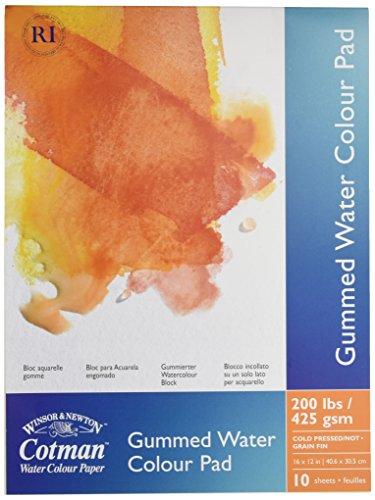 Winsor & Newton Cotman Zeichenblock - Aquarellpapier, 10 Blatt gummiert, 425 g/m², 30 x 40 cm
