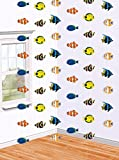6-teiliges Hängedeko Set * TROPISCHE FISCHE * für Kindergeburtstag oder Mottoparty // Kinder Geburtstag Kinderparty Party Decken Deko Deko Dekoration Hanging Decoration Clownfisch Nemo Doktorfisch