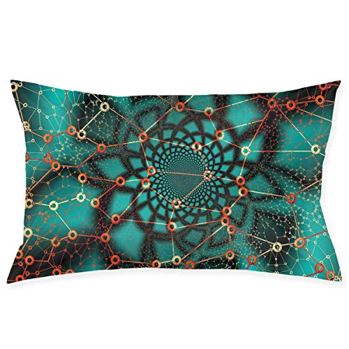 Pillow Protector Network Lines Shapes Pattern Standard Size 20x30 Inches Zippered Pillowcase Pillow Cover