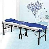 SYXL Falten-Massage-Bett-tragbares Multifunktionsschönheits-Bett-Leichtes Hauptmassage-Massagebett-tragbares Bett (Maße: 185 * 60cm) (Farbe : Blau, größe : 185 * 60cm)