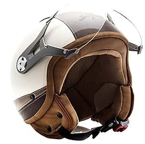 soxon sp 325 urban creme chopper biker bobber casque jet moto vintage mofa helmet. Black Bedroom Furniture Sets. Home Design Ideas