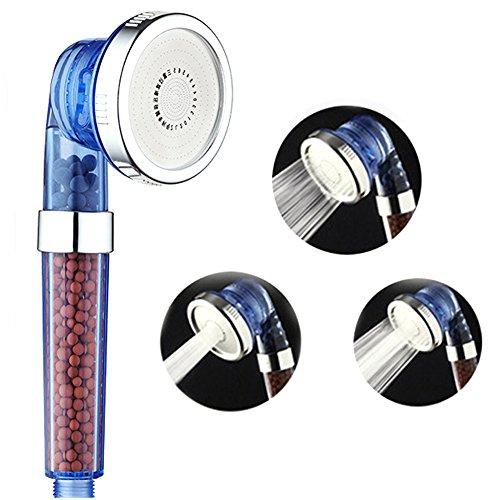 Dusche Kopf Filter, lonic Dusche Kopf, Hohe Druck und Wasser Energiesparend Filtration Dusche Head handgeräts mit negativen Ionen, Mineral Perlen für Badezimmer, 8* 22cm
