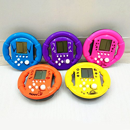 Bluelans 23Games Steering Wheel Shape Classic Mini Handheld Game Machine Kid Adult Gift for Kids Boys Girls Xmas Gifts Xmas Stocking Fillers Party Bag Gifts