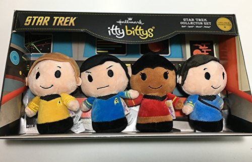 itty bittys Star Trek 50th Anniversary Collector Set With Captain Kirk, Spock, Doctor McCoy and Lieutenant Uhura Stuffed Animals Itty Bittys Birthday