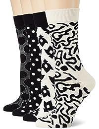 Happy Socks Big Dot Gift Box, Chaussettes Femme, Noir (Schwarz 9000), Taille Unique (Taille Fabricant: 36-40)