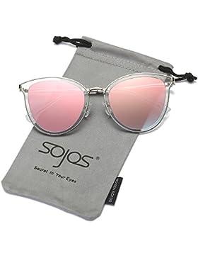 SojoS Schick classico retrò specchio rotondo occhiali da sole Unisex per Uomo Donna SJ1052