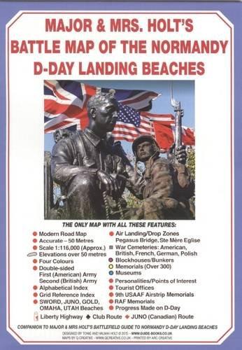 Major & Mrs Holt's Battle Map of Normandy D-Day Landing for sale  Delivered anywhere in UK