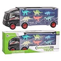 TWFRIC Dinosaur Truck Toy, Dinosaur Car With 12 Mini Plastic Dinosaurs Educational Car Toys for Kids Boys Girls