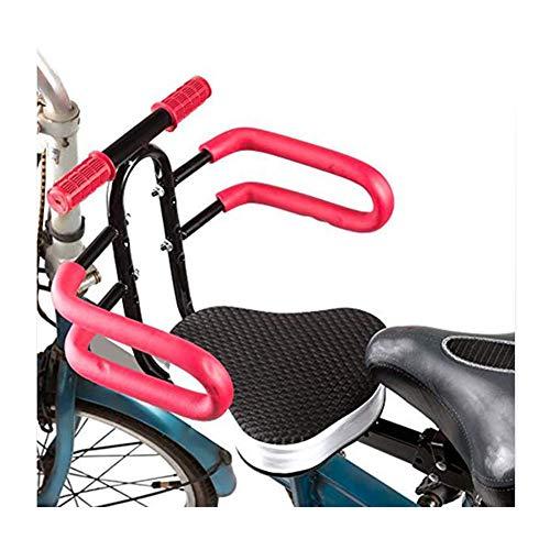 CHENG Kindersitz Fahrrad Elektroauto Vordersitz Baby Sattelkissen Träger,Black