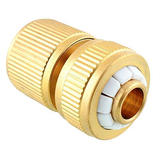 Foreverweihuajz Jardin d'irrigation en cuivre robinet adaptateur tuyau d'eau Tuyau raccords rapides - Doré 1 doré